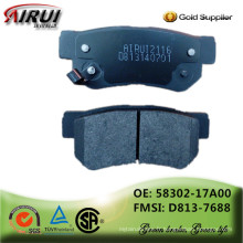 Plaquettes de freins à disque, qualité OE, fabricant pièces automobiles auto à chaud (OE: 58302-17A00 / FMSI: D813-7688)