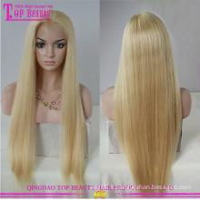 Cheveux brésiliens blonde gros plein lacet perruque vente chaude blonde plein lacet perruque usine fourniture directe blonde perruque de cheveux humains