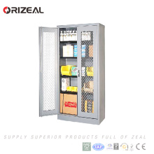 Orizeal Swing Mesh Door Storage Cabinet with Shelves (OZ-OSC028)