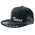 Algodão Twill Flat Bill Snapback Print bordado boné de beisebol (TMFL6345)