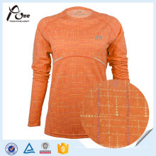 L'humidité créatrice femmes en gros 100% Polyester Running Shirt