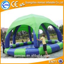 Piscinas inflables de PVC duradero con cubierta, piscina inflable malasia