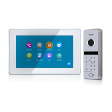 """New Arrive 1080P FullHD 7"""" Touch Screen video door phone with switch button for control power+2.0MP RFID call panel"""