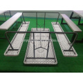 High quality folding with benches picnic plastic table