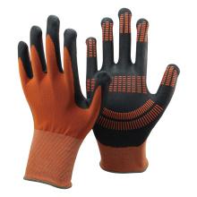 O nylon e o spandex de NMSAFETY trabalham luvas da proteção da mão com pontos