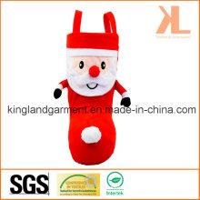 Polyester-Qualitäts-Weihnachtsdekoration Sankt-Art-roter Süßigkeits-Stiefel