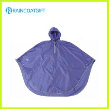 Impermeable poliester PVC revestimiento bicicleta lluvia Poncho Rpy-013