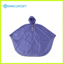 Wasserdichte Polyester PVC Beschichtung Fahrrad Regen Poncho Rpy-013