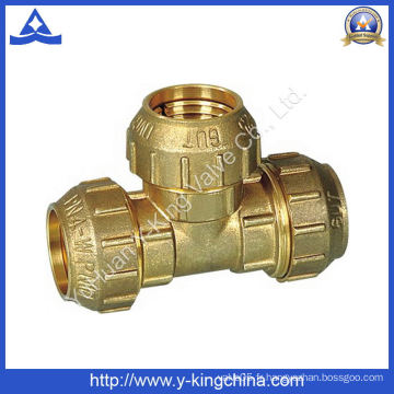 Brass Spanish Tee Coupling with Comprression Ends (YD-6048)