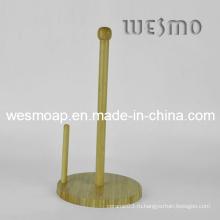 Держатель рулона бумажного полотенца из бамбука (WBB0337A)