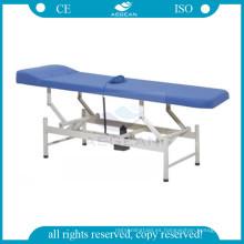 AG-ECC07 silla de la sala de examen de acero inoxidable con colchón de esponja suave de 5 cm