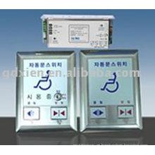 Interruptor de porta automática para deficientes