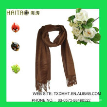 Classic wool imitation style for fashion women style coffee woven scarf