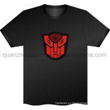 Custom Design Music Voice Activated EL Flashing T Shirt