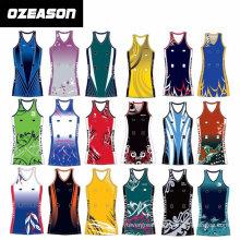 Cheap Custom Sublimation Netball Dresses Uniforms Design (N004)