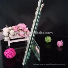 Moldura de cristal claro para a decoração da família, presente e lembrança