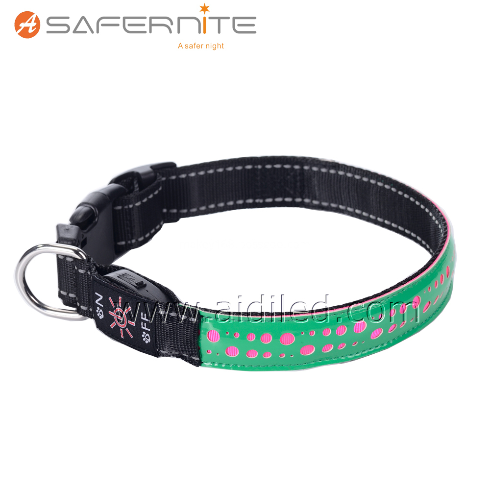 Flashing Lights Dog Collar