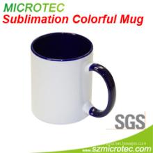 11oz Sublimation Coated Ceramic Two-Tone Color Mugs
