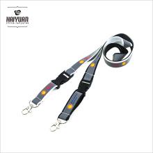 Cordão de design personalizado barato de alta qualidade, personalize seu próprio cordão de identificação refletor ID