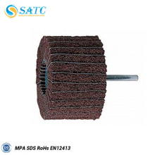 SATC Abrasive flap wheel with shaft for polishing stainless steel