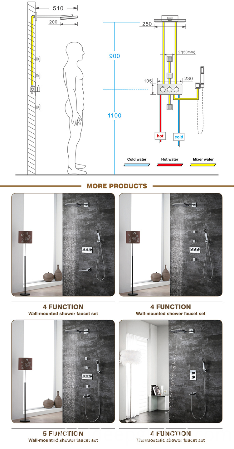 Brass Shower Mixer