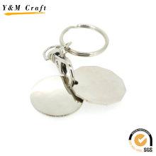 Porte-clés en bois et en métal, porte-clés de forme ovale (Y03922)