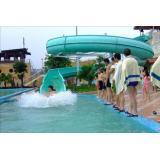 Combination fiber glass water slide of swimming pool water