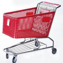 Amerikanische Plastikeinkaufslaufkatze