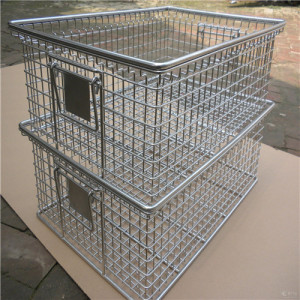 China Stainless Steel Industrial Wire Mesh Baskets Manufacturers