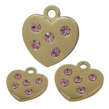 Metall-Zink-Legierung Gold Heart Fashion Anhänger