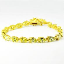 Nuevo diseño 925 pulseras de diamantes de plata con corazón de circonio. (K-1766)