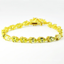 Novo design 925 pulseiras de diamantes de prata com coração de zircão. (K-1766)