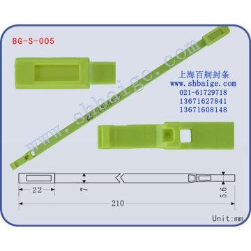 selo indicativo de segurança BG-S-005 para uso de segurança