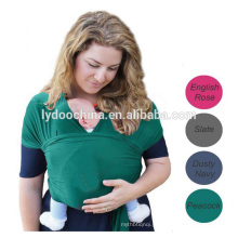 Alta qualidade 100% algodão orgânico natural envoltório do portador de bebê