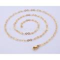 Venta al por mayor última cadena de oro BSL004-3 del oro del acero inoxidable del collar de la joyería