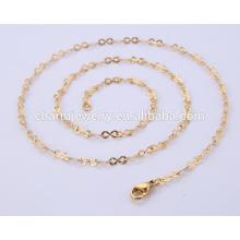 Großhandelsneueste Schmucksache-Halsketten-Edelstahl-Goldkette BSL004-3