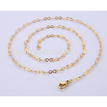 Wholesale Latest Jewelry Necklace Stainless Steel Gold Chain BSL004-3