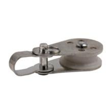 Poulie pivotante en alliage de zinc avec roue en nylon
