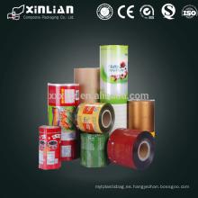 Venta al por mayor de alimentos laminados de embalaje Rollo de película flexible