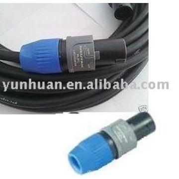 Cabo de alimentação com conector Neutrik plug instrumento uso áudio cabo speakon