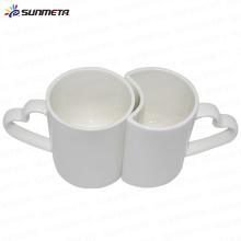La venta caliente linda caliente de la mejor calidad directamente de la fábrica de la fábrica cubrió las tazas imprimibles blancas de los pares para la venta