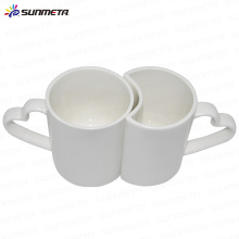 Best Quality Cute Hot Sale Directly Factory Sublimation Coated White Printable Couple Mugs For Sale