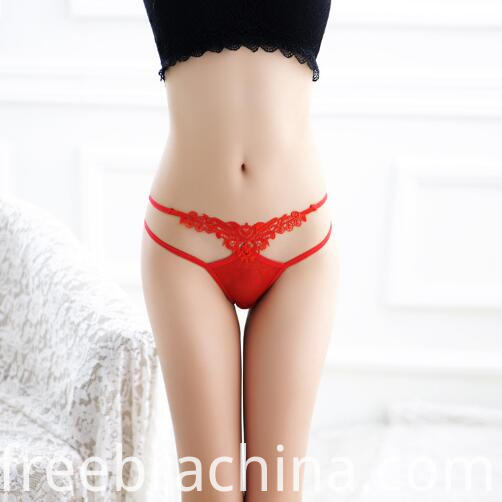 women lace t panty red