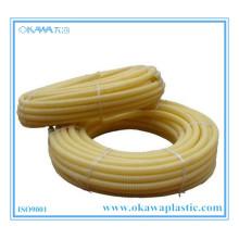 Gelber PVC-Wellschlauch durch Flammschutzmittel