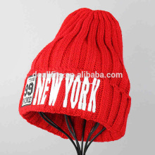 high quality knitted cap winter hats with custom embroidery caps factory