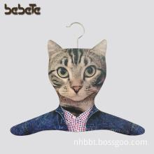 Display Veneer Wood Clothes Hanger with Cat Head