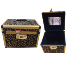 Leopard Cosmeti Case with Coded Lock