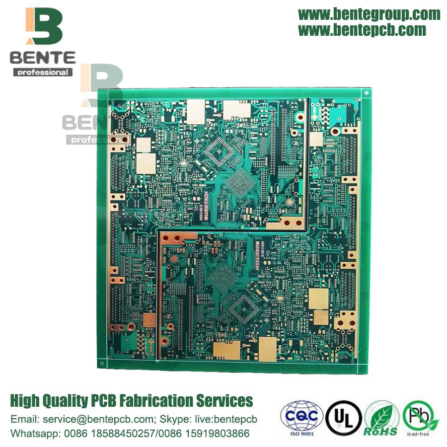 "Impedance Control 10 Layers PCB IT180 HDI PCB ENIG 2u"" BGA"