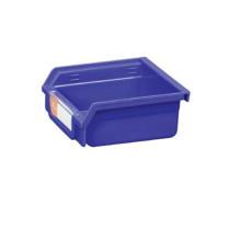 Oficina o almacén Contenedores de plástico montados en la pared / compartimiento de almacenamiento adecuados para estante móvil