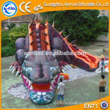 2016 Vivid design giant inflatable dinosaur slide for sale
